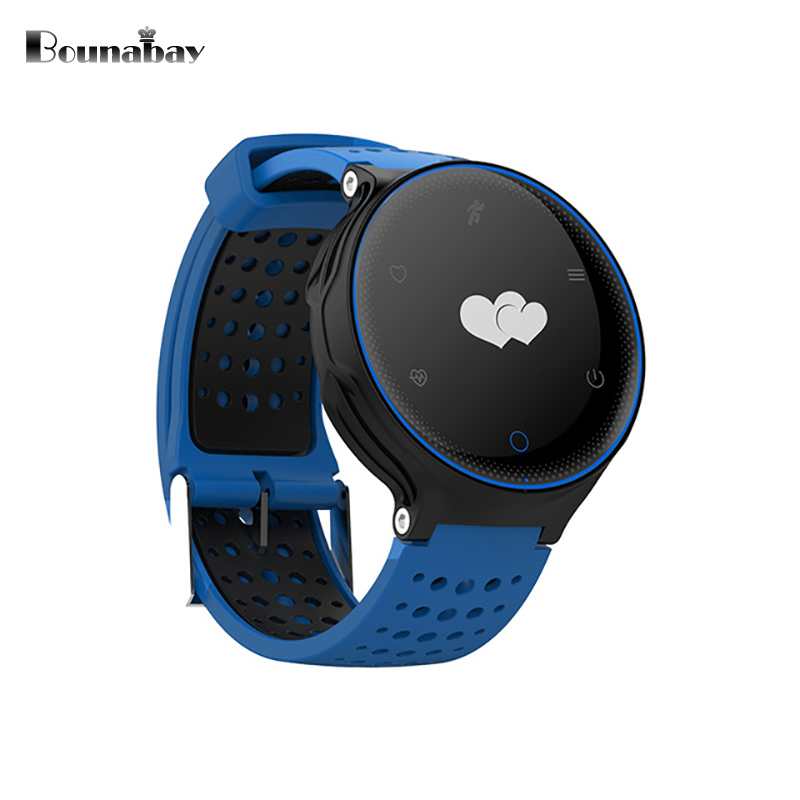 BOUNABAY Heart Rate Monitor Smart watch for man Bluetooth Multi-lingual Watches Men Clock Android ios phone wifi  3G 32M Clocks no 1 g6 asia bluetooth 4 0 heart rate monitor smart watch black
