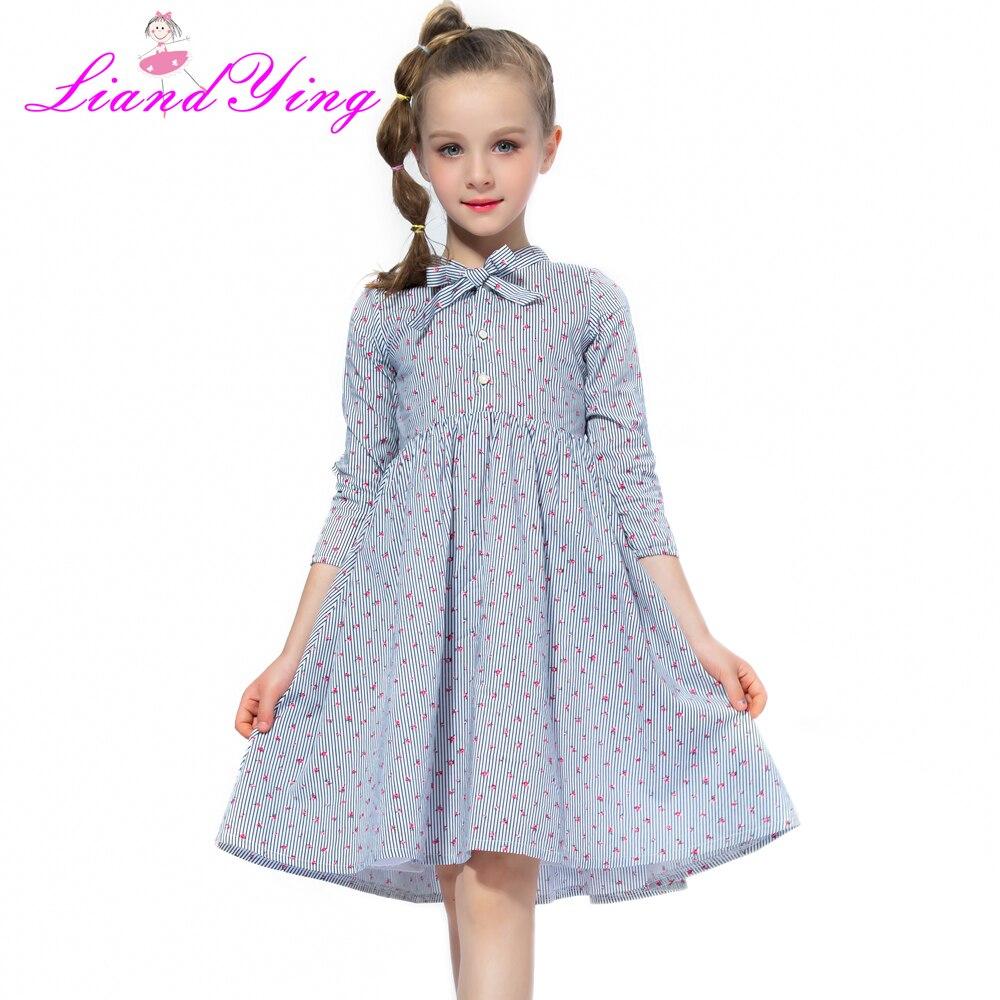 2018 mädchen Tutu Kleider Nette Sommer Kinder Kleidung Baby Mädchen Casual Baumwolle Beachwear Frühling Sommer Mädchen Lange-sleeve Kleid