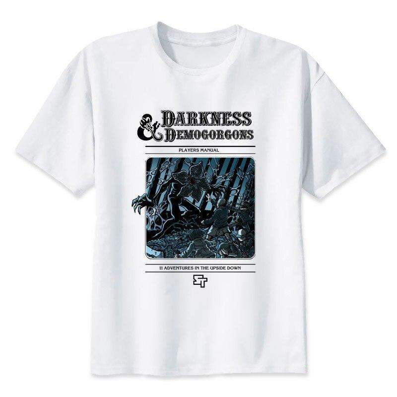 Fremden dinge t-shirt Hip-hop-stil elf demogorgon kopf Design T-shirt Coole Mode Mann frauen t-shirt Farbe MMR482