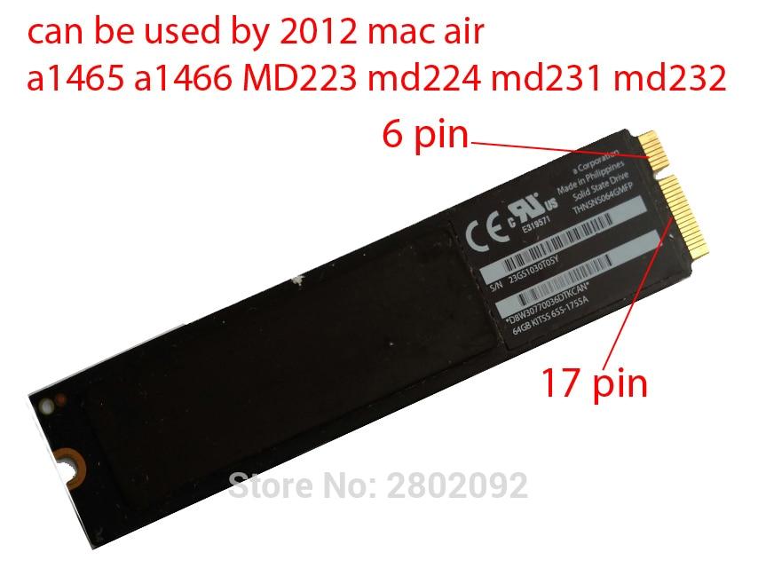 Original 64GB SSD For 2012 Macbook Air A1465 A1466 SOLID STATE DISK Md231 md232 md223 md224 hard disk new 128gb ssd for 2012 macbook air a1465 a1466 solid state disk md231 md232 md223 md224 hard disk