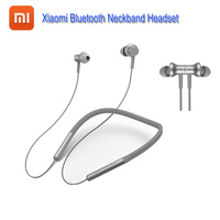 Original Xiaomi Bluetooth Neckband Earphones Hybrid Dual Driver apt X Support AAC Codec Skin Care Light Sports Leisure