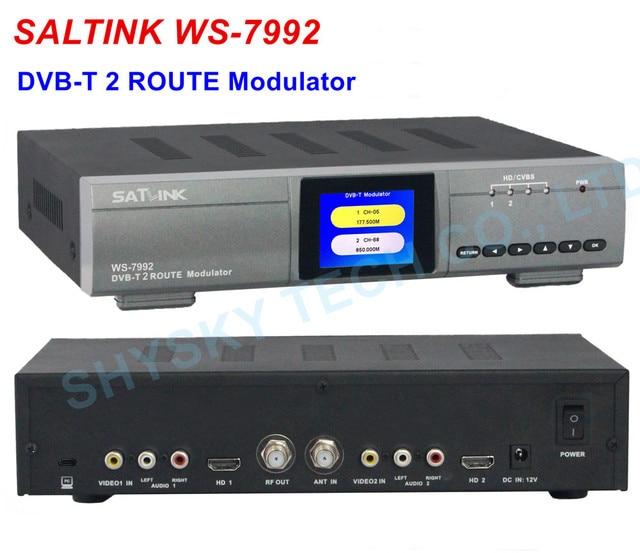 100 Original SATLINK WS 7992 Modulator 2 Route Input HD DVB T