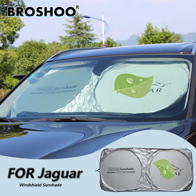BROSHOO Car Windscreen Sunshade Front Window Sun Shade Windshield Visor  Cover For Jaguar XF XJ XK S-Type X-type X350 all new bb6d9066f88
