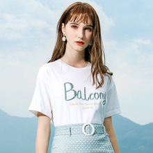 Wasteheart Women Tops Casual White T-shirts Solid Shirt O-Neck Short Plus Size T Shirt Women Cotton Sexy Cut Out Tees Embroidery недорого