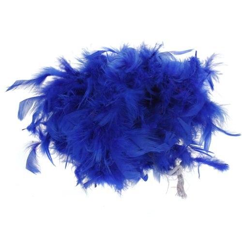 FJS!Boa de Plume Pelucheux Decoration Artisanale 6,6 Pieds de Long - Bleu royal
