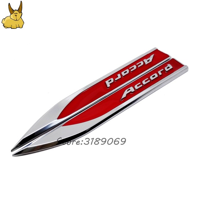 Car Door Fender Side Emblem Badge Rear Trunk Sticker For Honda - Stickers for honda accord