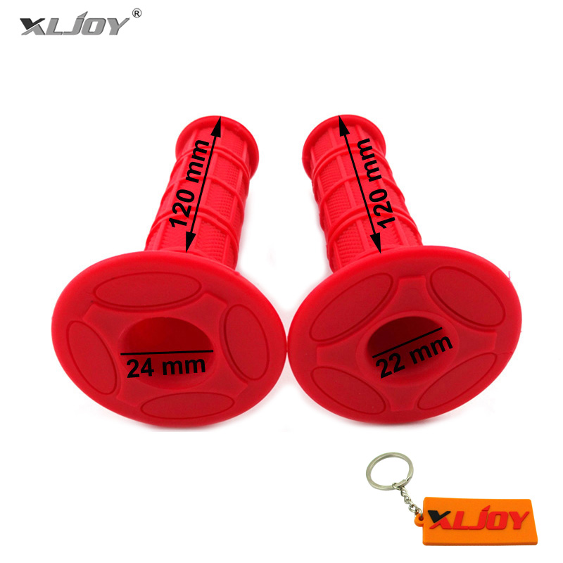 Red Rubber Throttle Handlebar Hand Grips Pitster YCF SSR Orion IMR Pit Dirt Bike