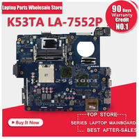 100 Working Laptop Motherboard For ASUS K53TA QBL60 LA 7552P Series Mainboard Fully Tested