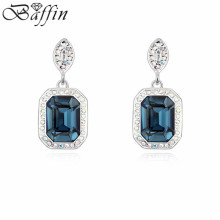 Retro Vintage Jewelry Crystal Orecchini Made with Swarovski Elements Square Dangle Earrings Pendientes Bijoux women(China)