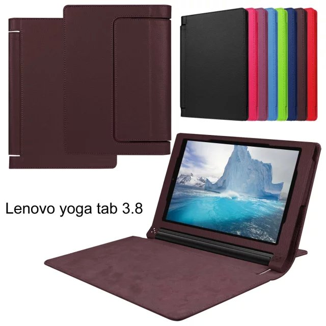 Litchi Magnet PU Leather Case For lenovo Yoga tab 3 850F YT3-850F 8.0 inch Tablet Case Smart Flip Cover Protective shell 3 in 1 new ultra thin smart pu leather case cover for 2015 lenovo yoga tab 3 850f 8 0 tablet pc stylus screen film