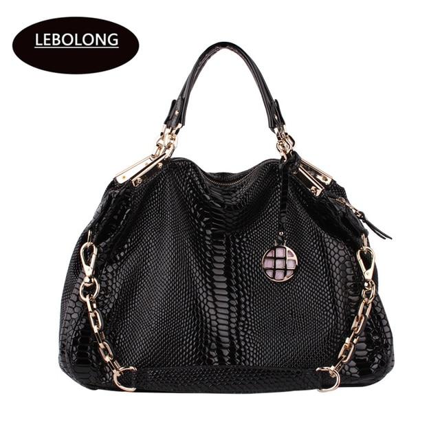 ce23bd71da Lebolong Fashionable Elegant Female Package Quality Snake Bag Lady  Multifunctional Handbag High-capacity Routine Handbag
