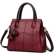Женская Роскошная Кожаная сумка через плечо, Большая вместительная сумка-мессенджер, Повседневная Сумка-тоут