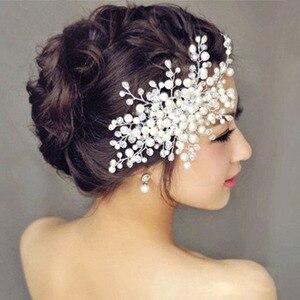 Peines de pelo de imitación Ali perla joyería accesorios nupciales para el cabello decoración de boda para accesorios de pelo mujer