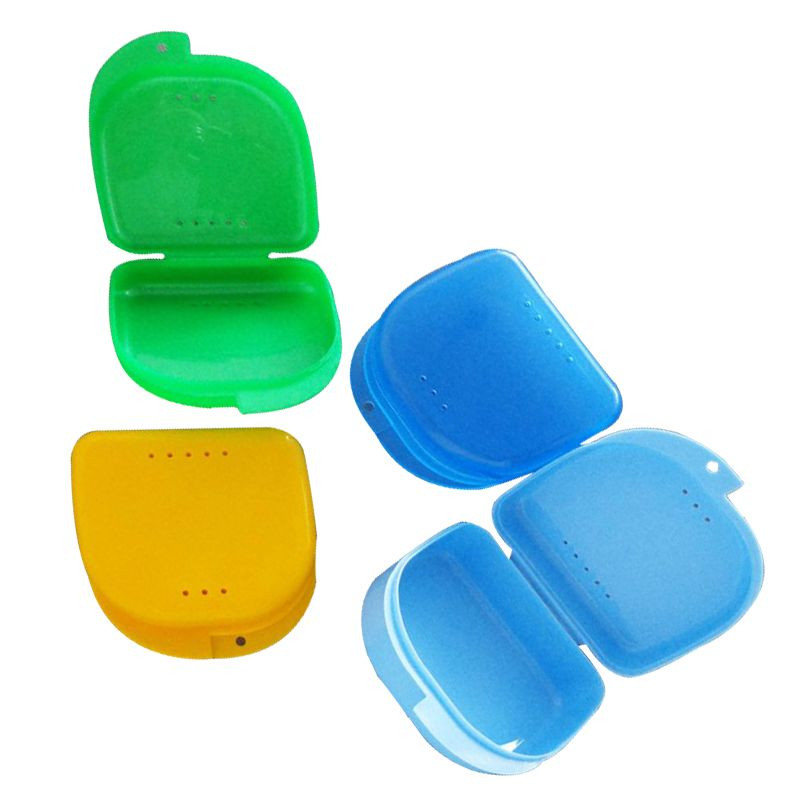 Denture-Case Teeth-Protective with 1PC Holes False Y1379 Wtpinm Multicolor High-Qaulity