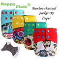 Genuine! Happy Flute OS bamboo charcoal pocket baby cloth diaper training pants