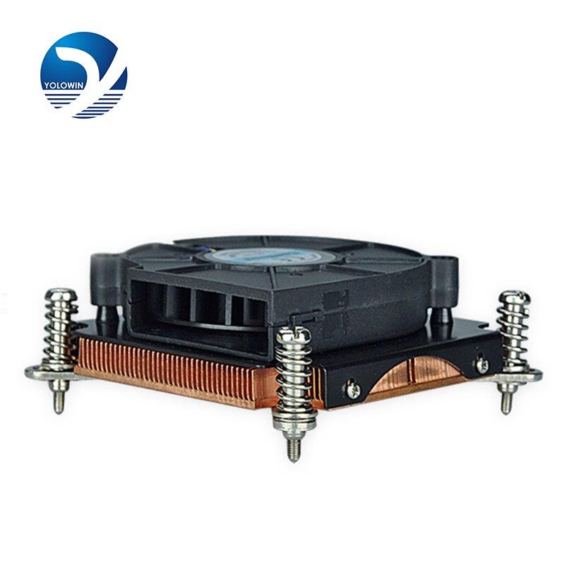 Radiateur cuivre dissipateur thermique pour ordinateur serveur ventilateurs Intel LGA 1155/1156/1150 refroidissement actif 4 broches avec fonction PWM D5-10