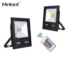 Светодиодный прожектор RGB 10 Вт 20 30 50 от 110 до 220, водонепроницаемый Светодиодный прожектор для наружного использования, ландшафтное освещени...