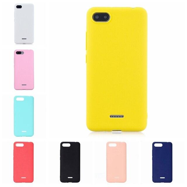 Bonbons Couleur Coque De Téléphone Pour Xiaomi Redmi 6A 7 7A 8A A1 A2 K20 CC9 CC9E Note 6 7 8 Pro Silicone Souple Couverture Colorée de Téléphone Coque Arrière