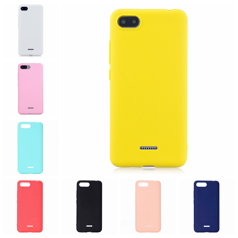Candy Color Phone <font><b>Case</b></font> For <font><b>Xiomi</b></font> <font><b>Redmi</b></font> <font><b>6A</b></font> 7 7A 8A A1 A2 K20 CC9 CC9E Note <font><b>6</b></font> 7 8 Pro Soft Silicone Colored <font><b>Cover</b></font> Phone Back <font><b>Case</b></font> image