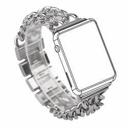 Ковбой ссылка браслет-цепочка Нержавеющаясталь часы ремешок для Apple Watch Series 1/2 браслеты