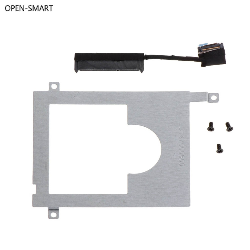 OPEN-SMART HDD Caddy Bracket Hard Drive Adapter SSD Cable Connector Laptop Accessory Screw For DELL E7450