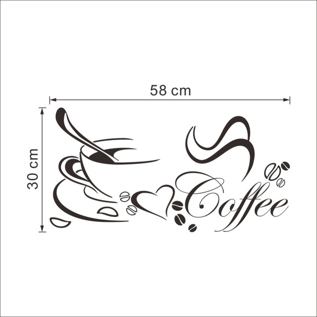 Coffee Heart Vinyl Quote Wall Sticker 10