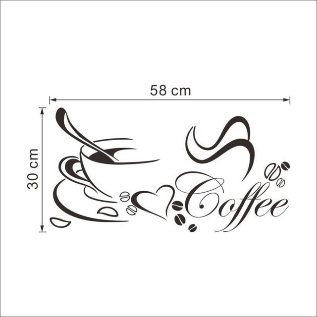 Coffee Heart Vinyl Quote Wall Sticker 10