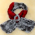 Genuine Rex Rabbit Fur Scarves 2016 winter Real fur scarf for women Wraps female Fur Accessory Female Neckerchief lattice scarf