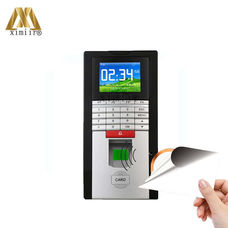 Fingerprint Time Attendance And Access Control With TCP/IP USB High Speed Fingerprint Access Control With IC Card Reader F20 hot selling 3 high speed good quality 30000 user capacity color screen time attendance time clock m200 with tcp ip rj45