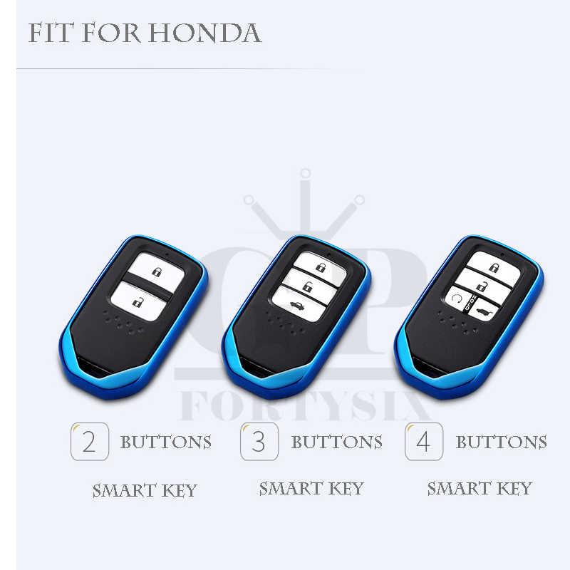 Cubierta de la llave del coche de TPU Coloful para Honda Hrv Civic 2017 Accord 2003-2007 Cr-v liberado piloto soporte de protección para llavero de diseño de coche