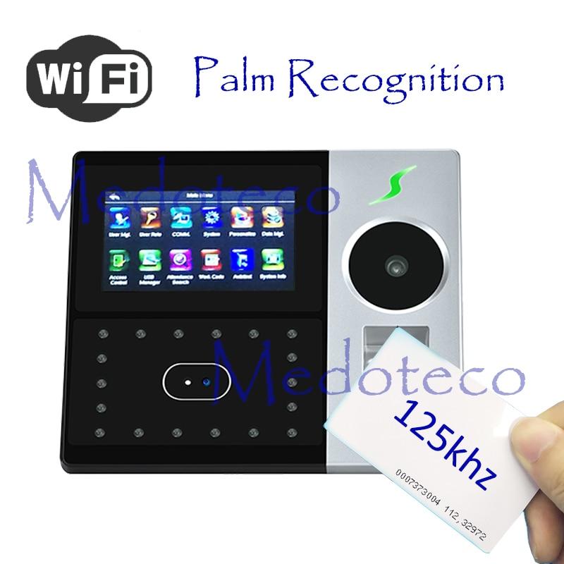 New Wifi Hybird Biometric Palm Time Attendance Rfid Card Employee Electronic Attendance Face & Fingerprint Time Recorder
