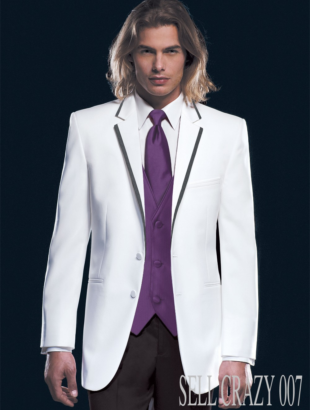 New Dress Tuxedo Style White And Black People Wedding Suits Men S Crazy 007 In Tuxedos From Weddings Events On Aliexpress