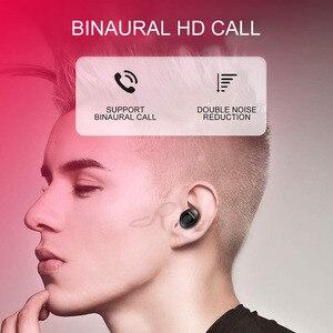 Image 4 - Roreta XG12 Bluetooth 5.0 אלחוטי אוזניות מיני דיבורית שיחת אוזניות עם מיקרופון סטריאו HIFI ספורט אוזניות עם USB מטען