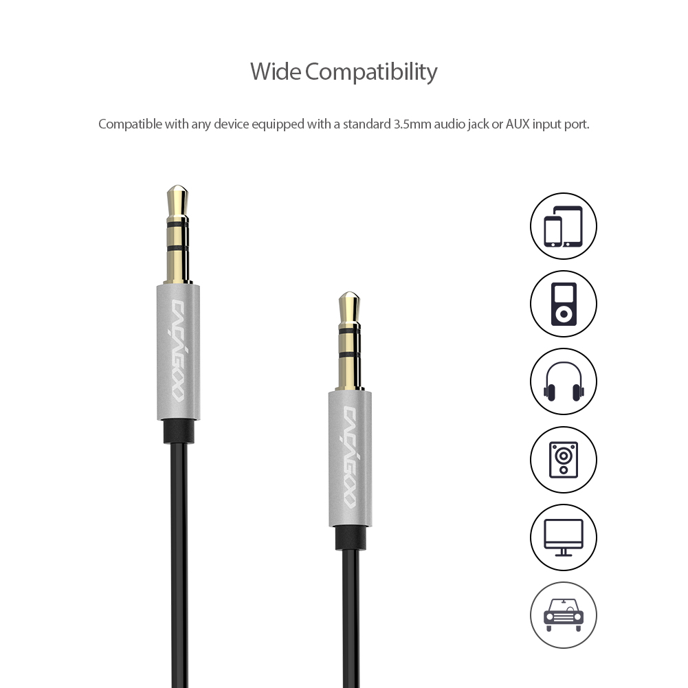 online get cheap stereo connector wiring aliexpress com alibaba cacagoo tangle stereo auxiliary aux audio cable gold plated connectors for mp3 player