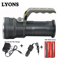 XM-L Q5 Rechargeable Flashlight Torch Lamp miner's lamp spelunking Underground work+2x18650 Battery+Car EU/US/AU/UK Charger