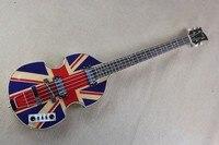 Флаг Англии винтажный вид Hofner 4 струны для бас гитары Тигр Пламя тело бас магазин гитар на заказ