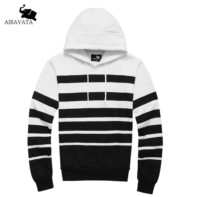 Fashion Mens Hoody and Sweatshirt Strips Printing Pullovers For Mens with Classic Hood Elastic And Soft Fleece Hoodies For Man