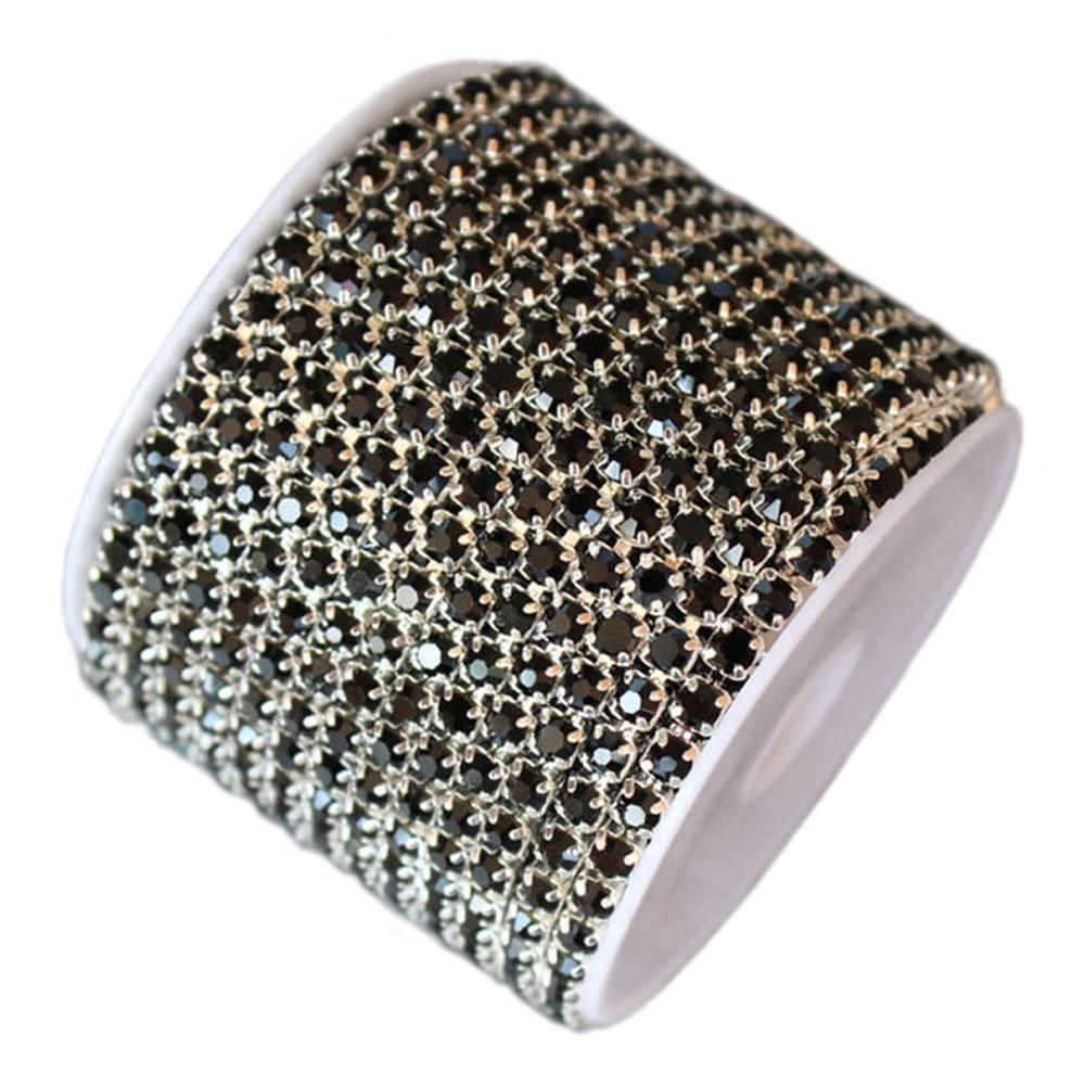 10 Yards 1 Row Dense Claw Rhinestones Cup Chain Fabric DIY Crystals Strass Trim Stones Chain Sewing Rhinestones For Garment in Rhinestones from Home Garden