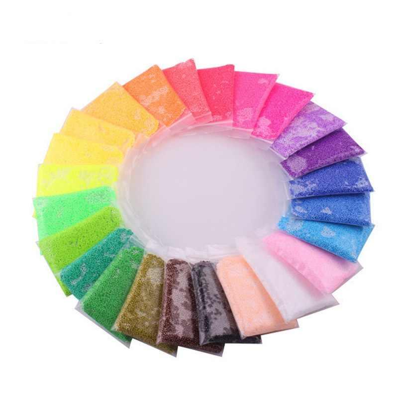 360g/24 farbe/lot Handgemachte DIY Weichen Polymer Schaum Modellierung Ton Set Schnee Perle Schlamm Pädagogisches Plastilin spielzeug für kinder