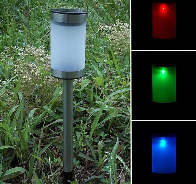4pcslot freeshippingstainless steel solar lawn light garden christmas decoration 2 color flashing - Solar Garden Christmas Decorations
