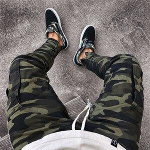 Image 5 - ดีทำงานทหาร Cargo Camo ต่อสู้กางเกงพลัสขนาดด้านข้าง Stripe HIP POP สไตล์ Streetwear ผู้ชายกางเกง Casual Camouflage streetw