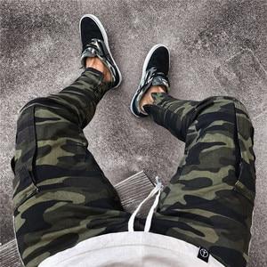 Image 5 - Pantalon Camouflage pour homme, pantalon de grande taille, à rayures latérales, Style Pop Hip hop, Streetwear, pour travail militaire, décontracté