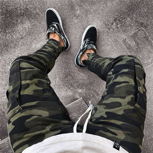 Image 5 - well Military Work Cargo Camo Combat Plus Size Pant Side Stripe Hip Pop Style Streetwear Men Trousers Casual Camouflage streetw