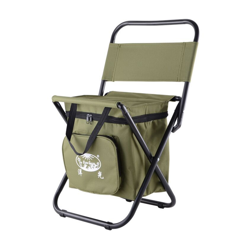 2 in 1 Fishing Chair Folding Chair Backpack Portable Ice Thermos Bag Folding Stool Outdoor Bifunctional Fishing Bag Chair bobing 3 in 1 outdoor portable multifunctional foldable cooler bag chair backpack fishing stool chair max load 150kg 300lb