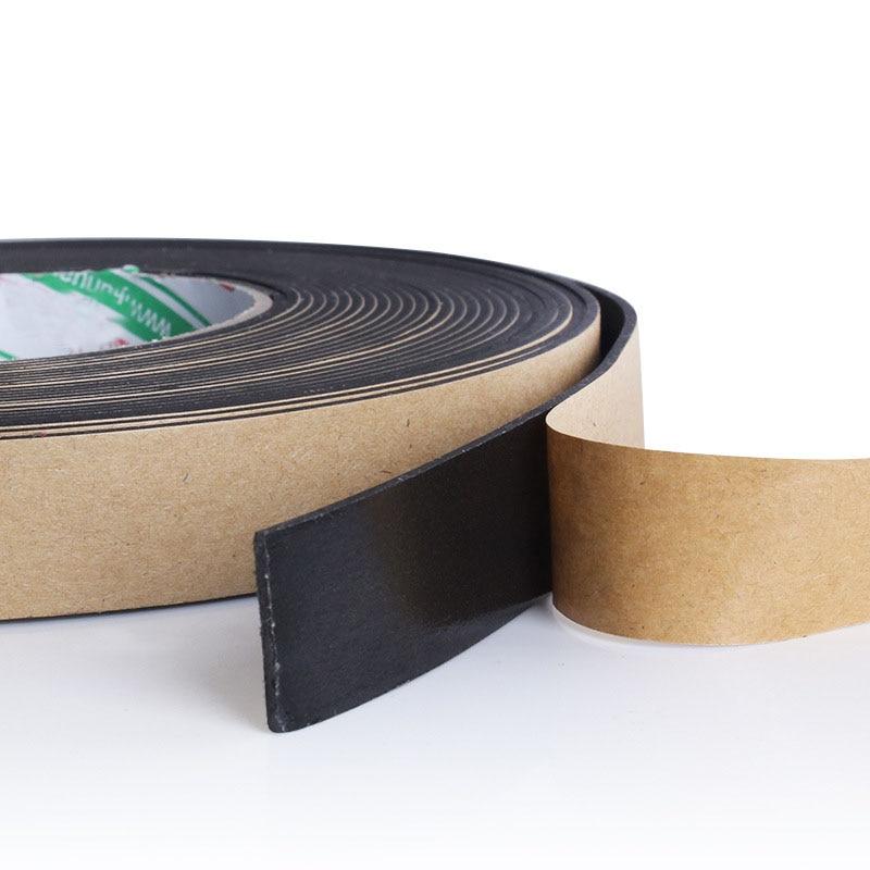 1Roll 10M*10MM EVA Single Sided Adhesive Tape Weather Sticky Stripping Sponge Foam Rubber Strip Neoprene Tape Door Seal