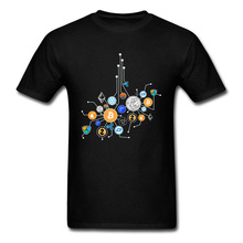 Cryptocurrency Network Bitcoin Pure Cotton Young T Shirt Print Hip hop Summer/Autumn Top T-shirts Brand New Mens