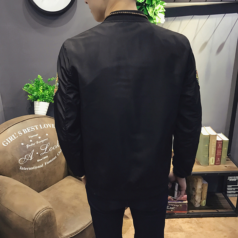 Bomber Jacket Men New Fashion Jackets Men Slim Fit 4