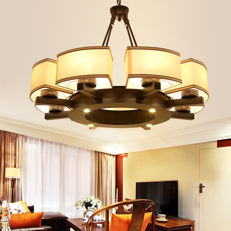 Chinese chandelier 6/8 heads  living room lamp modern round wrought iron bedroom pendant study room lamps ZA913707 korean princess wrought lamp iron bedroom led lamp american pastoral style living room children chandelier
