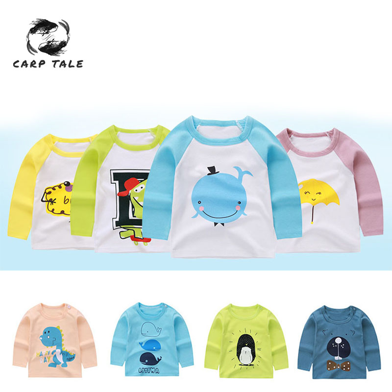 Long Sleeve T Shirt Boys and Girls Cotton Children 39 s Clothes Girls Cartoon Print Autumn T Shirt Casual Tops Children 39 s Clothing in Tees from Mother amp Kids