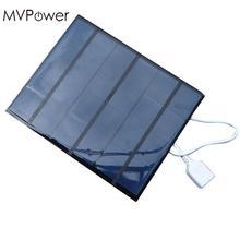 MVpower 3.5W 6V solar battery panel USB2.0 Folding Solar Panel Bank External Charger Power Panel For Smart Mobile Phone